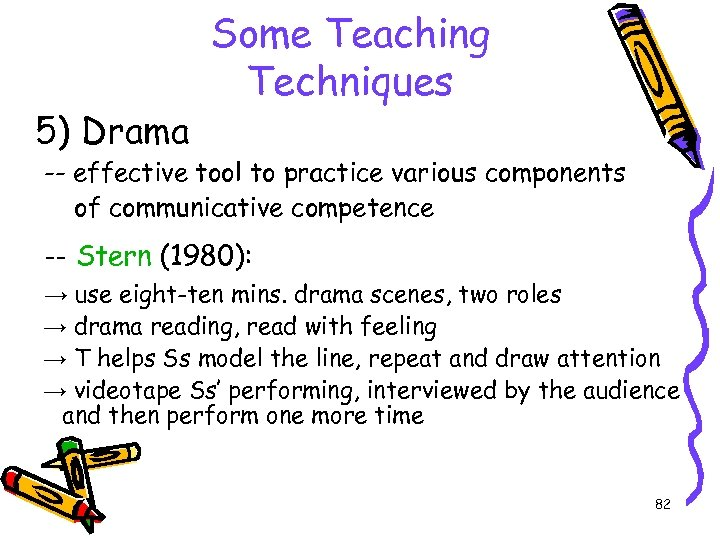 5) Drama Some Teaching Techniques -- effective tool to practice various components of communicative