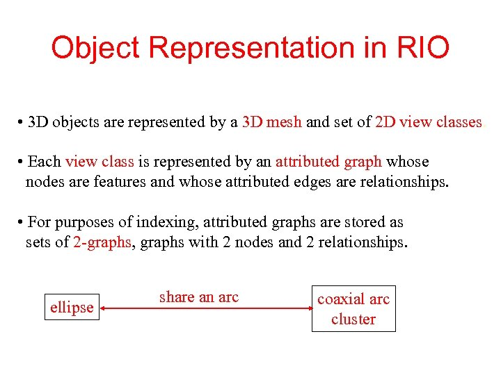 Object Representation in RIO • 3 D objects are represented by a 3 D