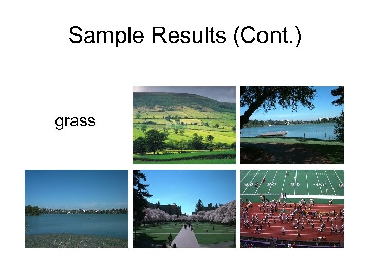 Sample Results (Cont. ) grass