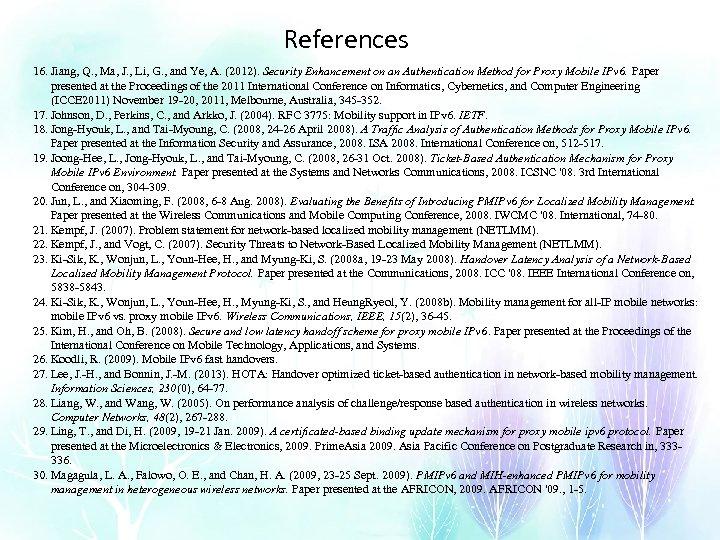 References 16. Jiang, Q. , Ma, J. , Li, G. , and Ye, A.