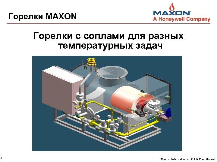 10 Горелки MAXON Горелки с соплами для разных температурных задач Maxon International: Oil &