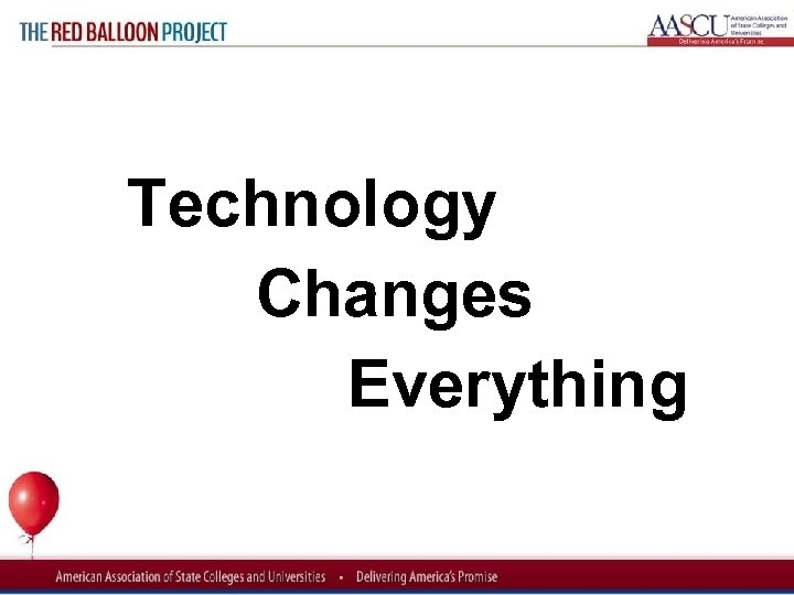 Red Balloon Project Technology Changes Everything