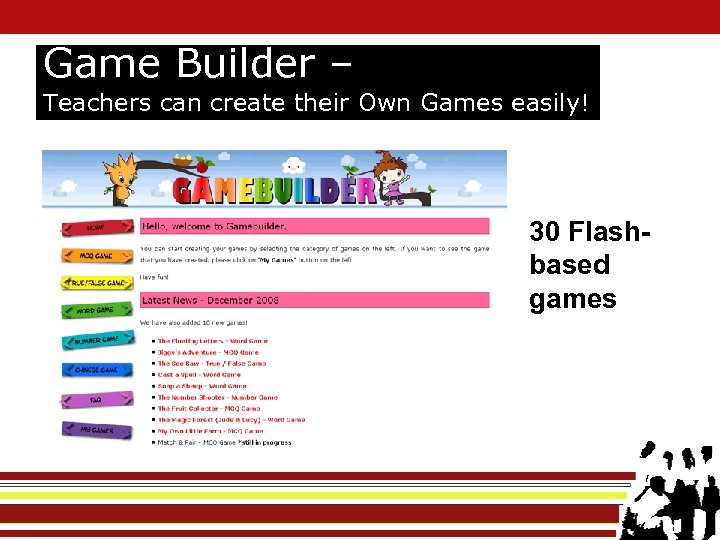 Game Builder – Teachers can create their Own Games easily! 30 Flashbased games