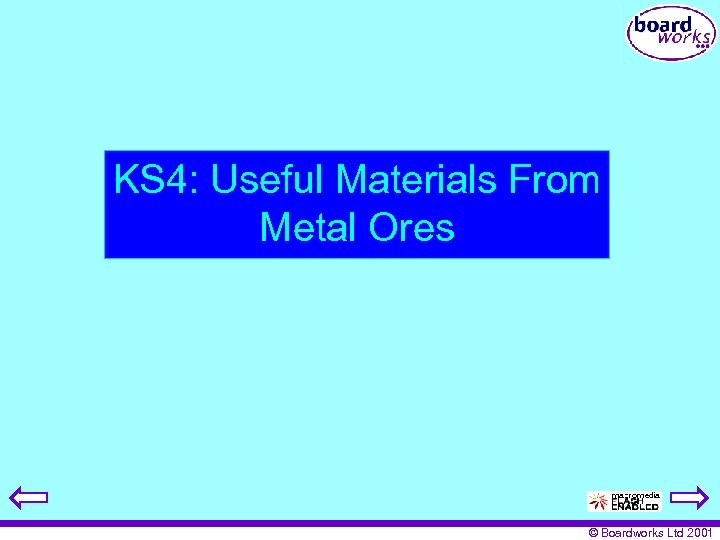 KS 4: Useful Materials From Metal Ores © Boardworks Ltd 2001