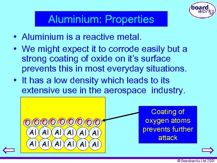Aluminium: Properties • Aluminium is a reactive metal. • We might expect it to