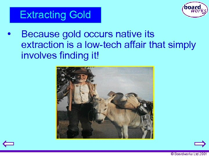 Extracting Gold • Because gold occurs native its extraction is a low-tech affair that