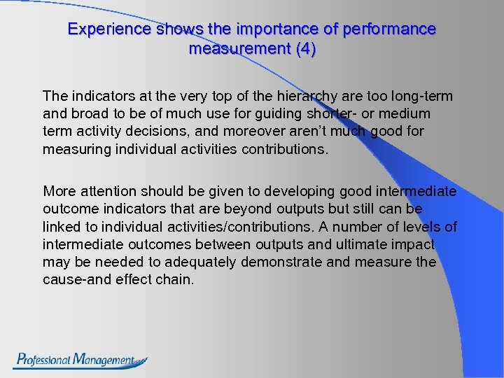 Experience shows the importance of performance measurement (4) The indicators at the very top