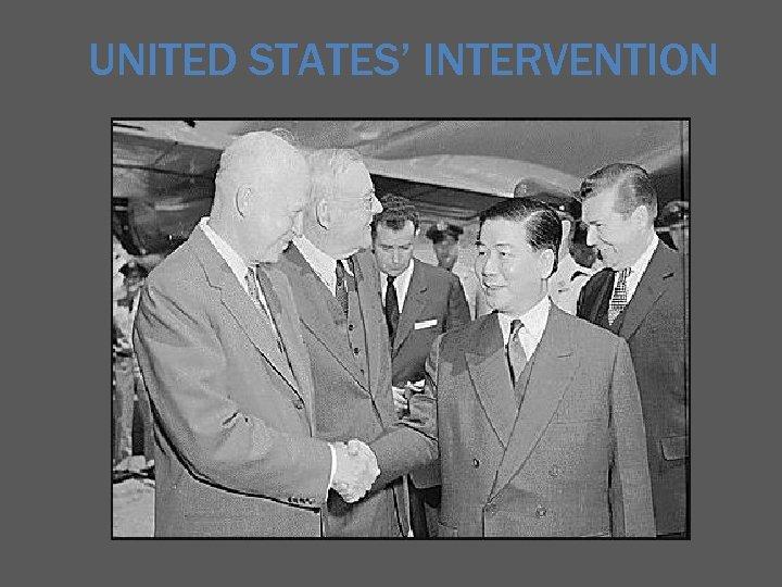UNITED STATES' INTERVENTION