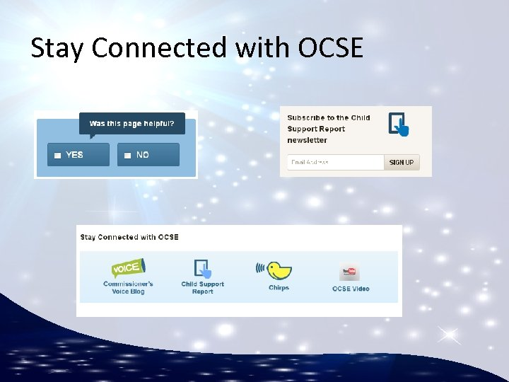 Stay Connected with OCSE