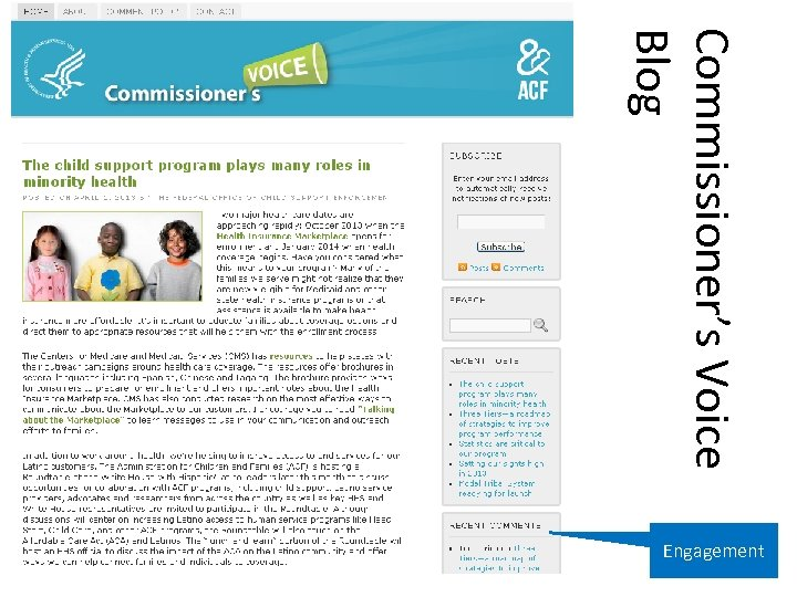 Commissioner's Voice Blog Engagement