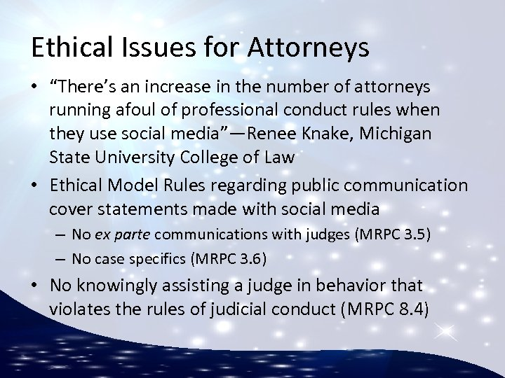 """Ethical Issues for Attorneys • """"There's an increase in the number of attorneys running"""