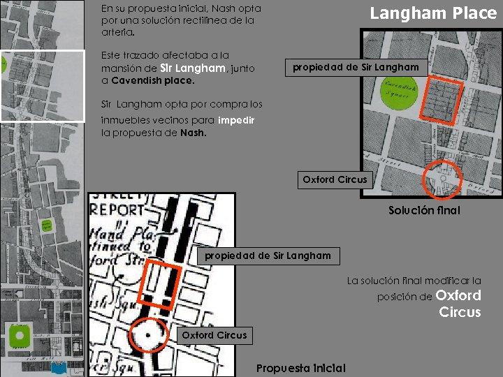Langham Place En su propuesta inicial, Nash opta por una solución rectilinea de la