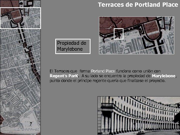 Terraces de Portland Place Propiedad de Marylebone El Terraces que forma Porland Place funciona