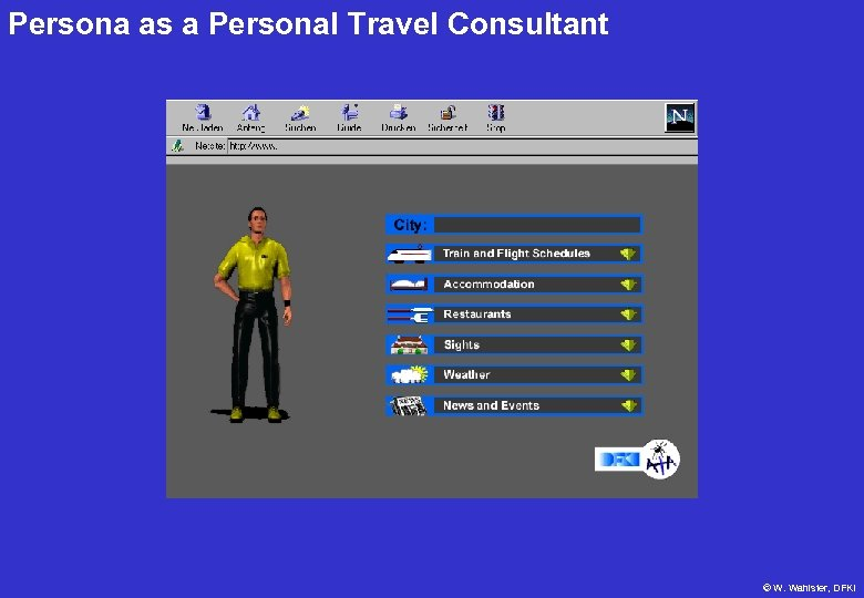 Persona as a Personal Travel Consultant © W. Wahlster, DFKI
