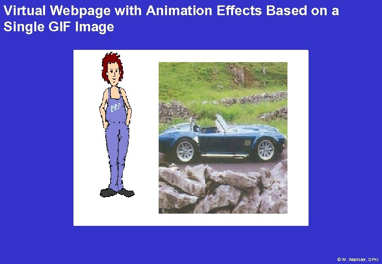 Virtual Webpage with Animation Effects Based on a Single GIF Image © W. Wahlster,