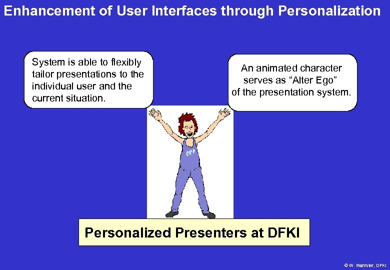 Enhancement of User Interfaces through Personalization System is able to flexibly tailor presentations to