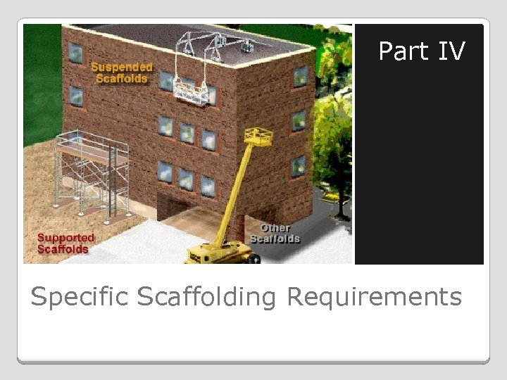 Part IV Specific Scaffolding Requirements
