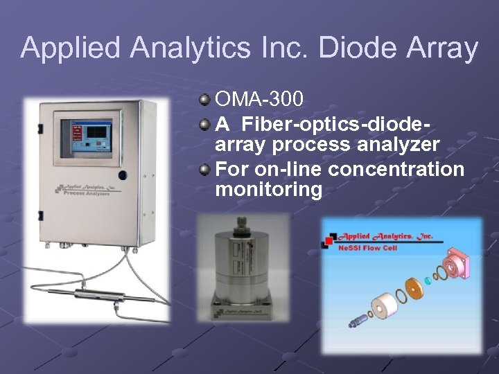 Applied Analytics Inc. Diode Array OMA-300 A Fiber-optics-diodearray process analyzer For on-line concentration monitoring
