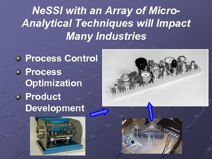 Ne. SSI with an Array of Micro. Analytical Techniques will Impact Many Industries Process