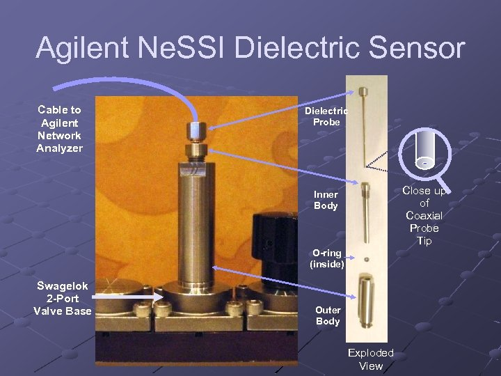 Agilent Ne. SSI Dielectric Sensor Cable to Agilent Network Analyzer Dielectric Probe Close up