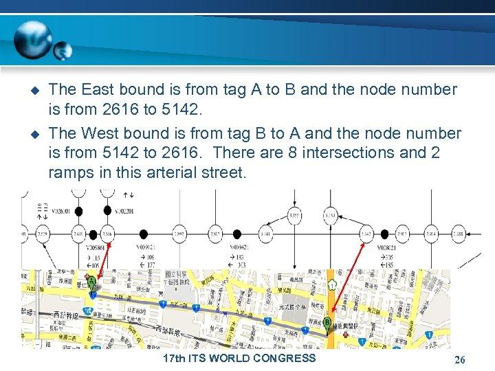 u u The East bound is from tag A to B and the node