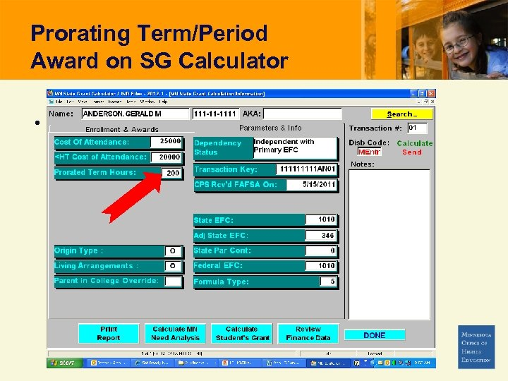 Prorating Term/Period Award on SG Calculator •