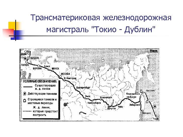 Трансматериковая железнодорожная магистраль