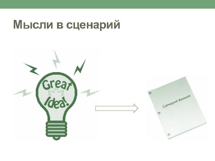 Мысли в сценарий