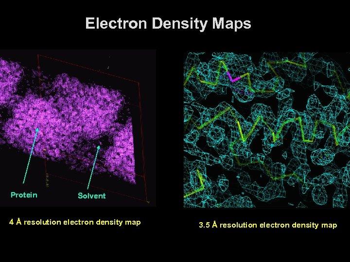 Electron Density Maps Protein Solvent 4 Å resolution electron density map 3. 5 Å
