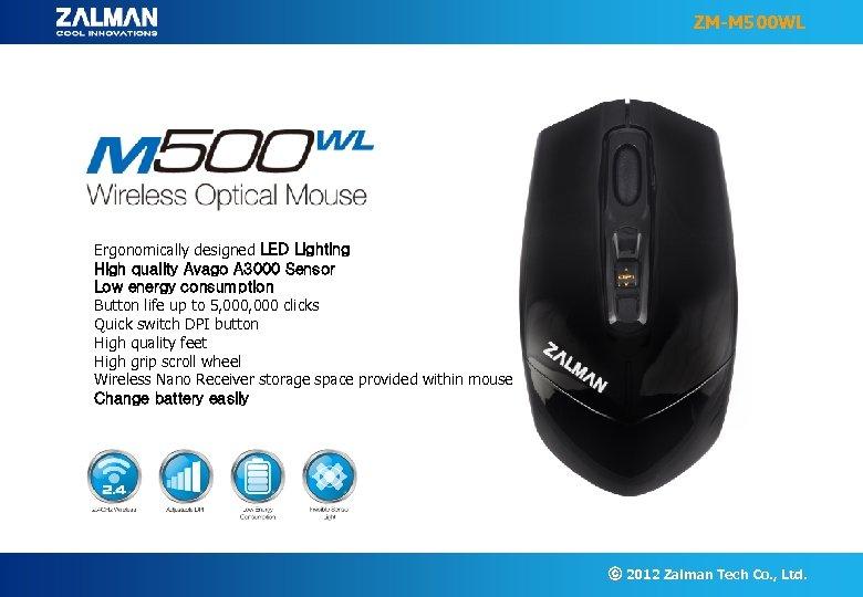 ZM-M 500 WL Ergonomically designed LED Lighting High quality Avago A 3000 Sensor Low