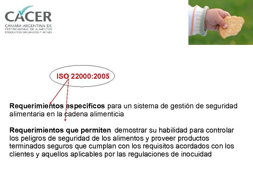 ISO 22000: 2005 Requerimientos específicos para un sistema de gestión de seguridad alimentaria en