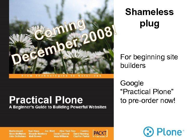 Shameless plug ng 8! mi Co r 200 be em For beginning site ec