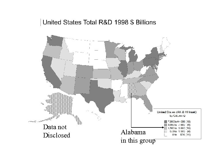 Data not Disclosed Alabama in this group