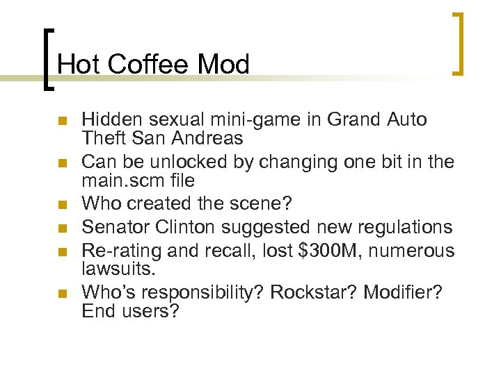 Hot Coffee Mod n n n Hidden sexual mini-game in Grand Auto Theft San