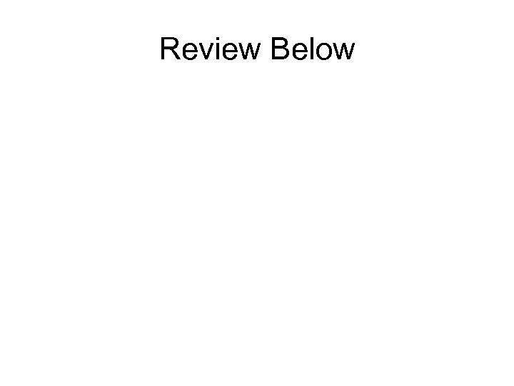 Review Below