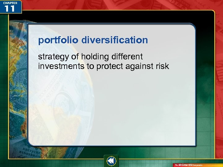 portfolio diversification strategy of holding different investments to protect against risk