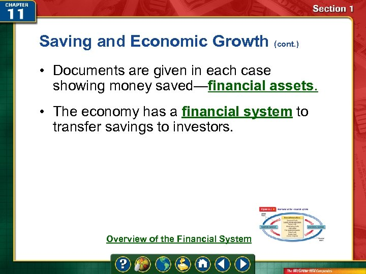 Saving and Economic Growth (cont. ) • Documents are given in each case showing