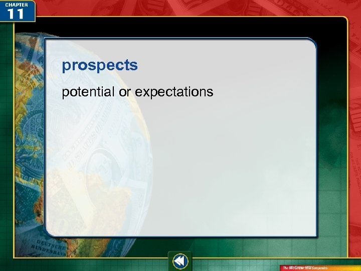 prospects potential or expectations