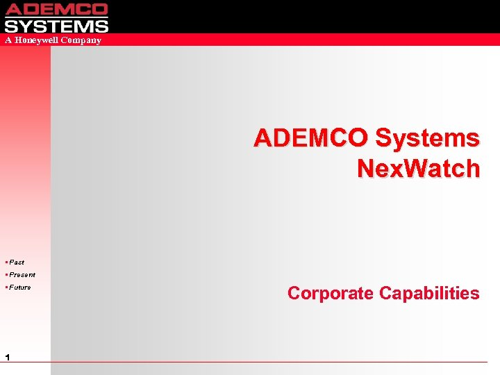 A Honeywell Company ADEMCO Systems Nex Watch