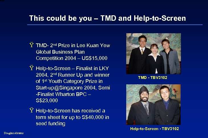 6 XXXX This could be you – TMD and Help-to-Screen Ÿ TMD- 2 nd