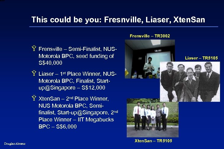 6 XXXX This could be you: Fresnville, Liaser, Xten. San Frensville – TR 3002