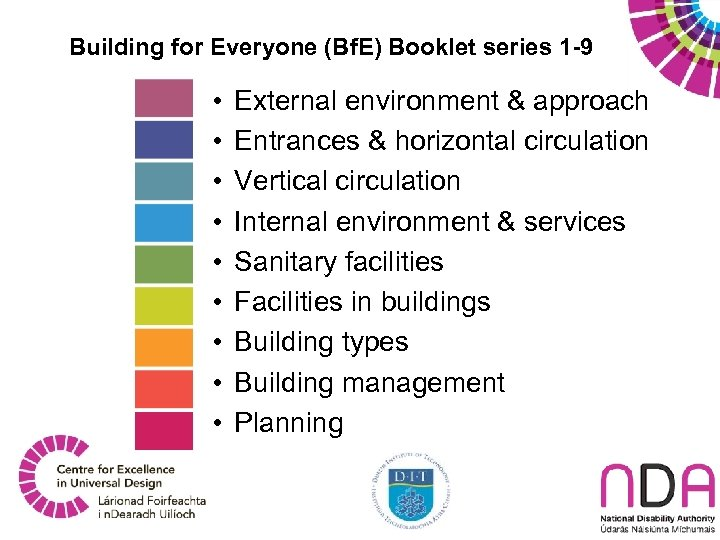 Building for Everyone (Bf. E) Booklet series 1 -9 • • • External environment