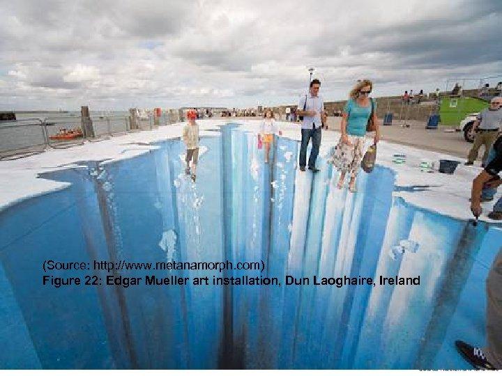 (Source: http: //www. metanamorph. com) Figure 22: Edgar Mueller art installation, Dun Laoghaire, Ireland