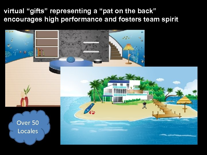 """virtual """"gifts"""" representing a """"pat on the back"""" encourages high performance and fosters team"""