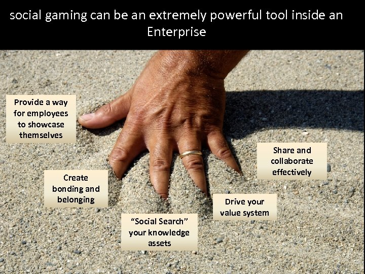 social gaming can be an extremely powerful tool inside an Enterprise Provide a way