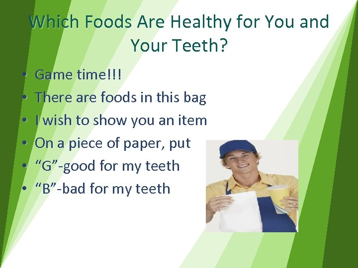 Which Foods Are Healthy for You and Your Teeth? • • • Game time!!!