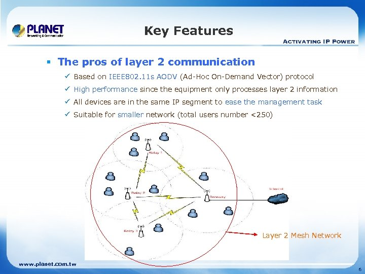 Key Features § The pros of layer 2 communication ü Based on IEEE 802.