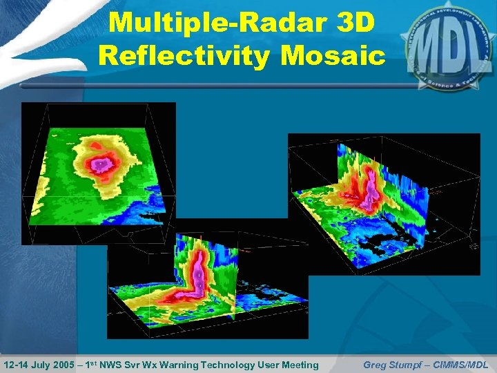 Multiple-Radar 3 D Reflectivity Mosaic 12 -14 July 2005 – 1 st NWS Svr