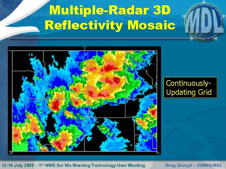 Multiple-Radar 3 D Reflectivity Mosaic Continuously. Updating Grid 12 -14 July 2005 – 1