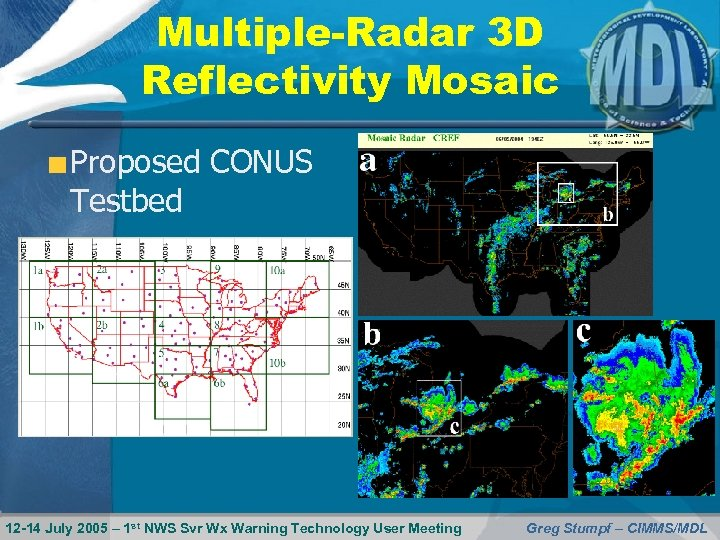 Multiple-Radar 3 D Reflectivity Mosaic Proposed CONUS Testbed 12 -14 July 2005 – 1